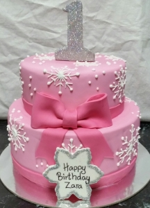 Pink with Snowflakes