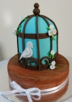 Bird Cage on Wooden Floor