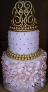 Golden Crown & Pink Petals