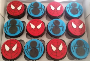 Spiderman Cup Cakes