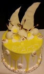 Coconut Lemon Meringue Drip Cake