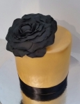 Gold and Black Rose