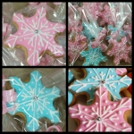 Snowflake Cookies Individually Wrapped