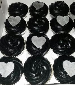 Black Engagement Cupcakes