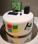 Windows Computer Themed Cake