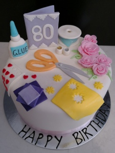 Card Making Themed Cake
